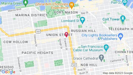Pacific Heights Inn Map