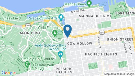 Inn at Golden Gate Map