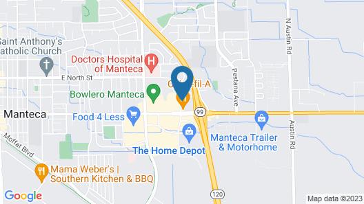 Motel 6 Manteca, CA Map