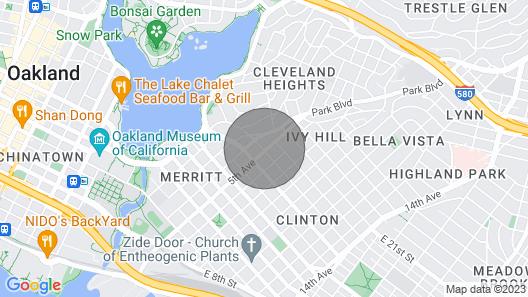 Blissful Condo by Lake Merritt Map