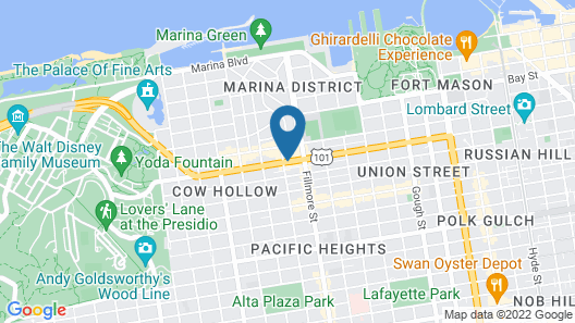 Cow Hollow Inn & Suites Map
