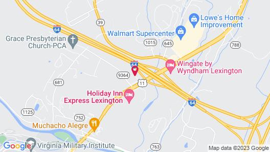 Comfort Inn Virginia Horse Center Map