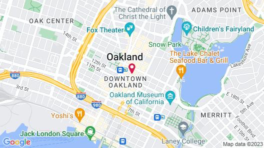Ramada by Wyndham Oakland Downtown City Center Map