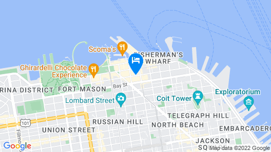 Holiday Inn Express and Suites Fisherman's Wharf, an IHG Hotel Map
