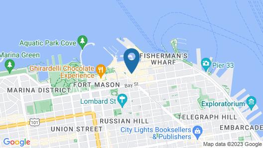 Hotel Caza Fisherman's Wharf Map