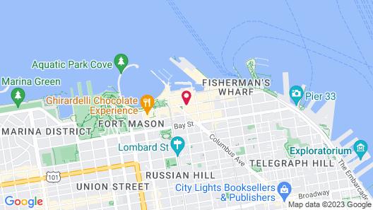Courtyard San Francisco Fisherman's Wharf Map