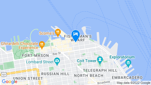 Hotel Zephyr San Francisco Map