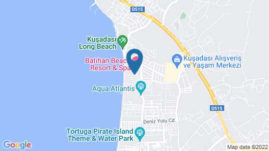 Batihan Beach Resort & Spa - All Inclusive Map