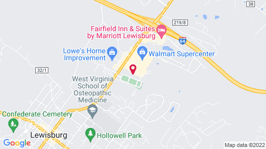 Holiday Inn Express Hotel & Suites Lewisburg, an IHG Hotel Map
