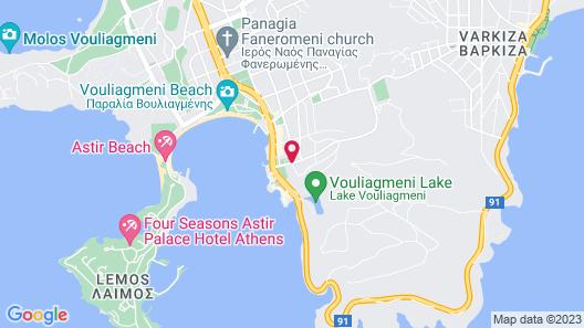 Vouliagmeni Suites Map