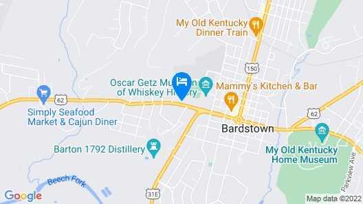 Old Kentucky Home Motel Map