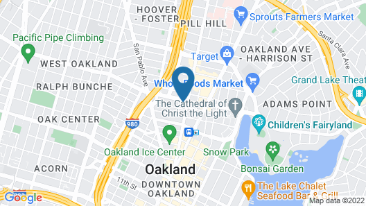 Moxy Oakland Downtown Map