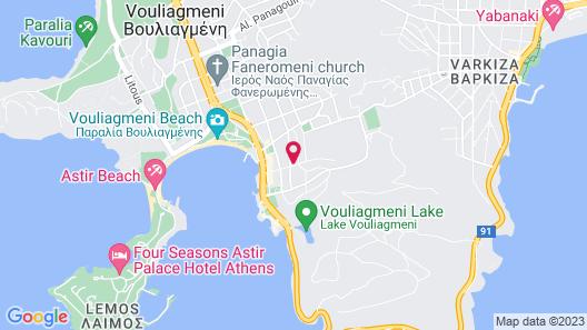 Vouliagmeni Stylish Homes by BluPine Map