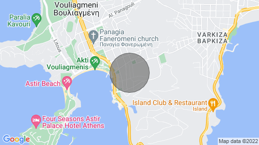 Athens Vouliagmeni Magnificent sea View Apartment Map