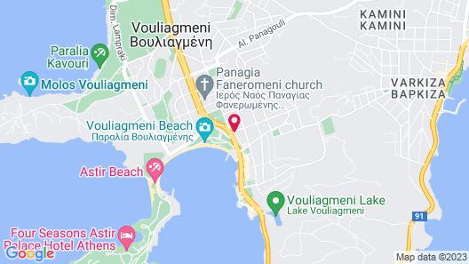 Somewhere Boutique Hotel Vouliagmeni Map