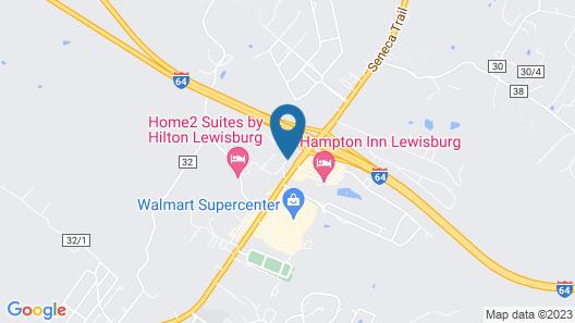 Super 8 by Wyndham Lewisburg Map