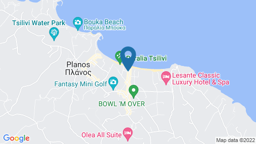 Iakinthos Tsilivi Beach Map