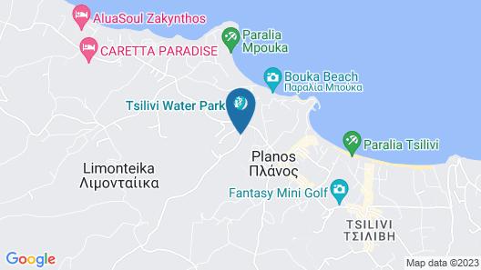 Zante Calinica Hotel Map
