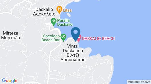 Daskalio Beach Hotel Map