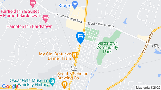 Bourbon Manor Bed and Breakfast Map