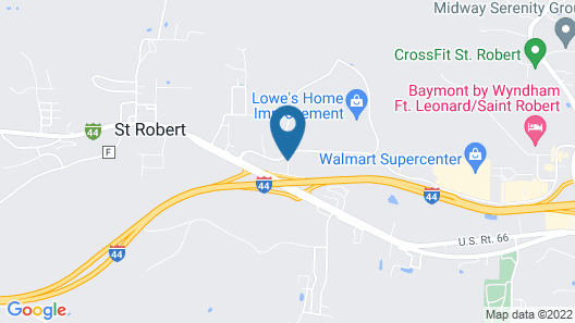 Super 8 by Wyndham St Robert Ft Leonard Wood Area Map