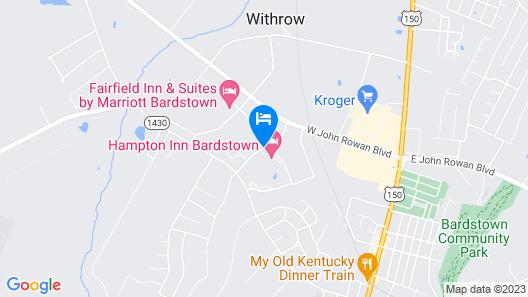 Hampton Inn Bardstown Map
