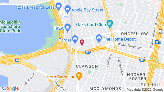 Extended Stay America Oakland - Emeryville Map