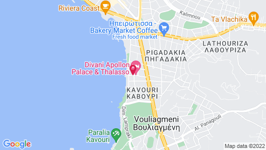 Divani Apollon Palace & Thalasso Map