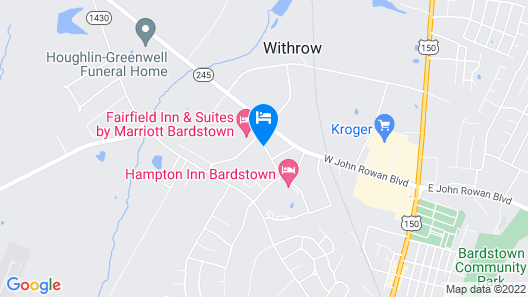 Holiday Inn Express And Suites Bardstown, an IHG Hotel Map