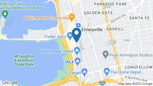 Hyatt Place Emeryville/San Francisco Bay Area Map