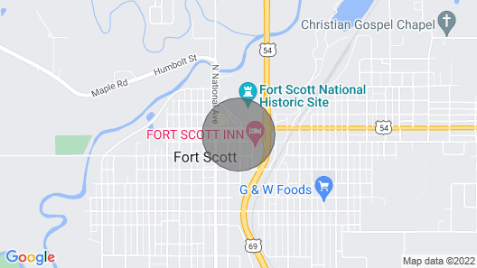 Brand Newtwo Bedroom Loft Located in Historic Downtown Fort Scott Map