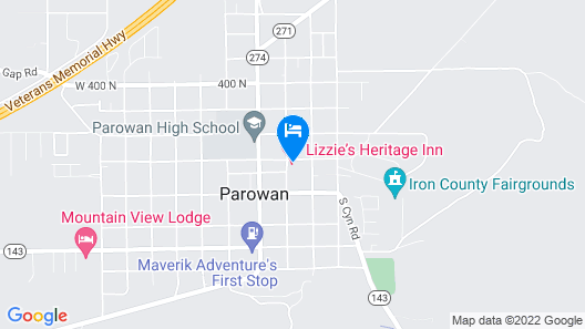 Lizzie's Heritage Inn Map