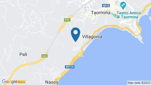 Diamond Hotel & Resorts Naxos - Taormina Map