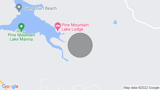 Bigfoot Cabin Near Yosemite Sleeps 9 1/2-mile to Lake Lodge Beach & Playground Map