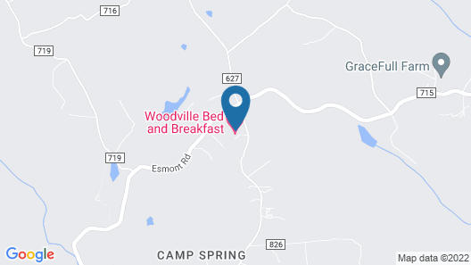 Woodville Bed and Breakfast Map