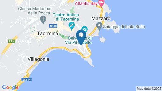 Maison Blanche Luxury B&B Taormina Map