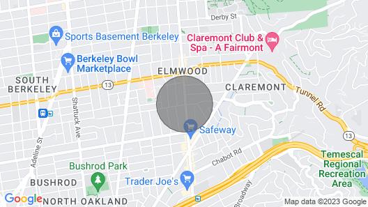 Cozy Apartment in Berkeley, Elmwood Map