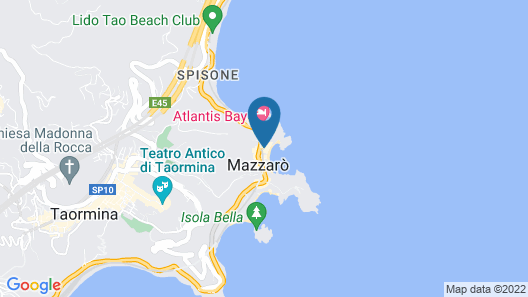 Hotel Mazzarò Sea Palace Map