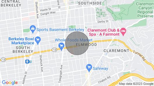 Quiet 1 Bedroom Walking Distance From UC Berkeley! Map
