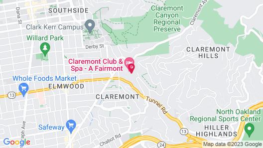 Claremont Club & Spa - A Fairmont Hotel Map