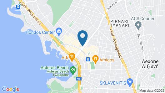 Athens Coast Hotel Map