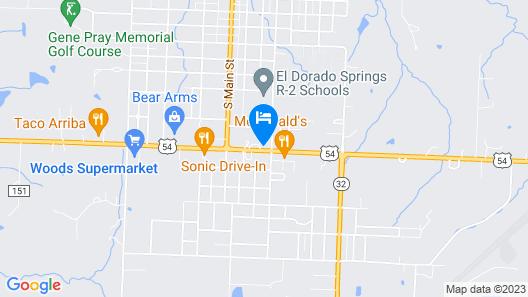 C&H Motel El Dorado Springs Map