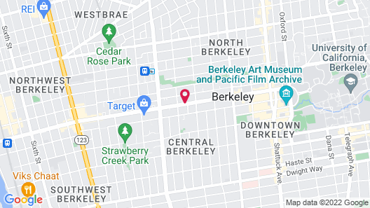 Super 8 by Wyndham Berkeley Map