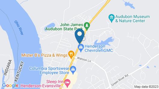 Comfort Inn Henderson Map