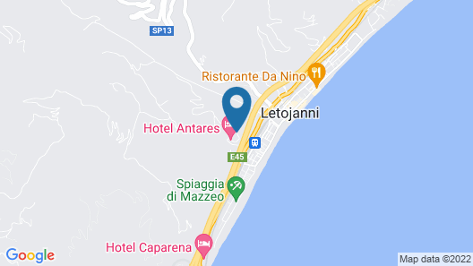 Hotel Antares Map