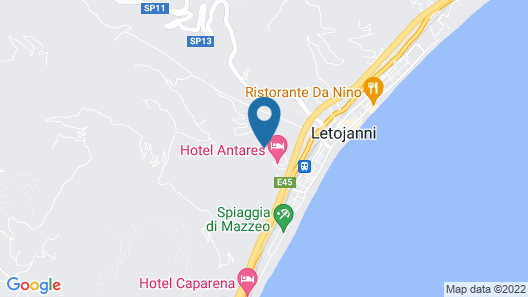 Hotel Olimpo Le Terrazze Map