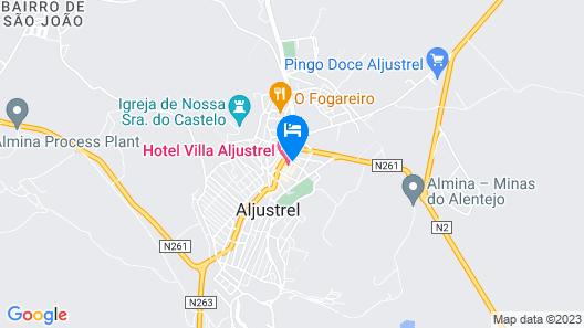Hotel Villa Aljustrel Map