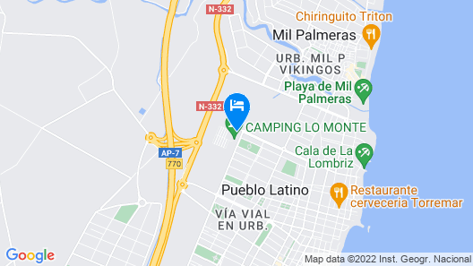 Camping Lo Monte Map