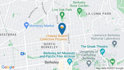 Sens Hotel & Vanne Bistro Berkeley Map