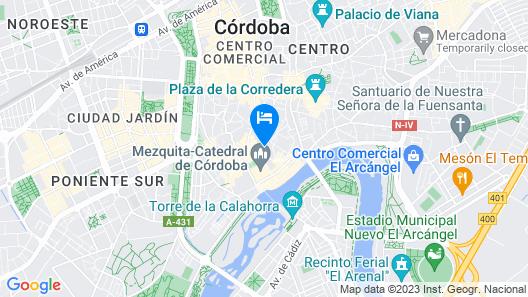 Balcón de Córdoba Hotel Map